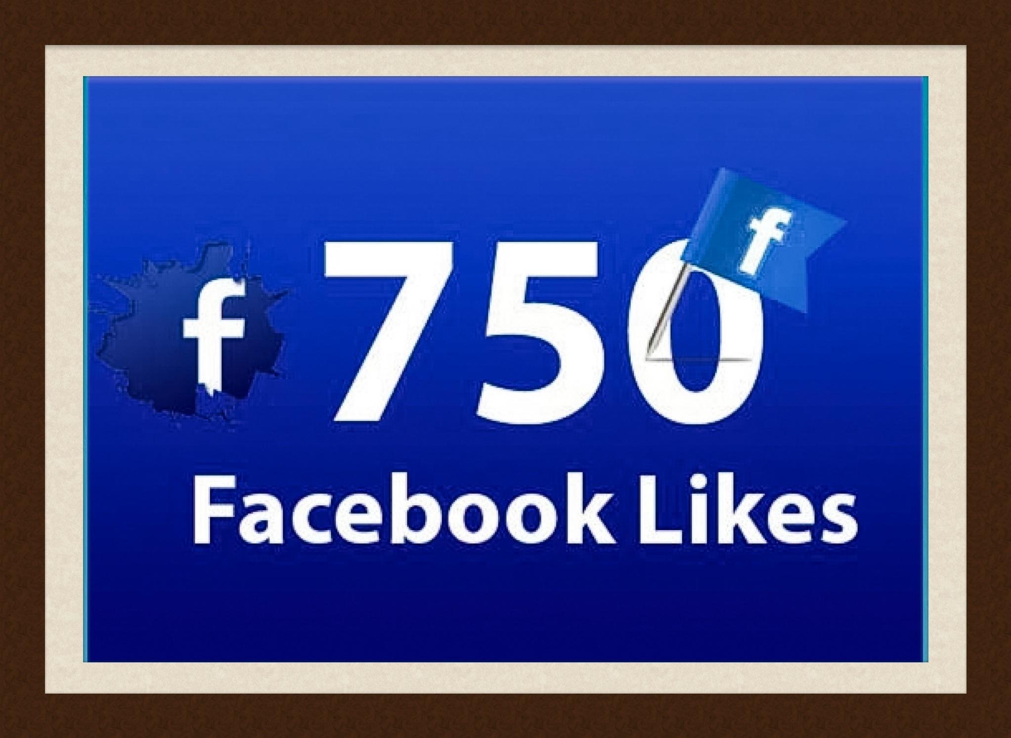 Celebrating 750 FaceBook Likes