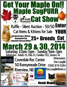 Come See Us At The Fundy Fanciers Cats Show in Moncton