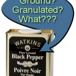 Pepper Ground or Granulated