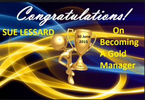 Congratulations on Becoming a Gold Manager