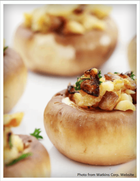 Garlic & Dill Stuffed Mushrooms Recipe
