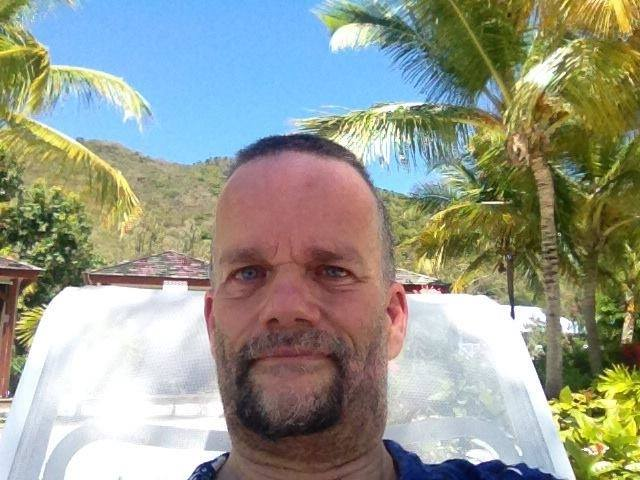 Brian Hurlburt relaxing in St Martin