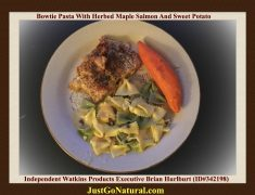 Bowtie Pasta With Herbed Maple Salmon And Sweet Potato