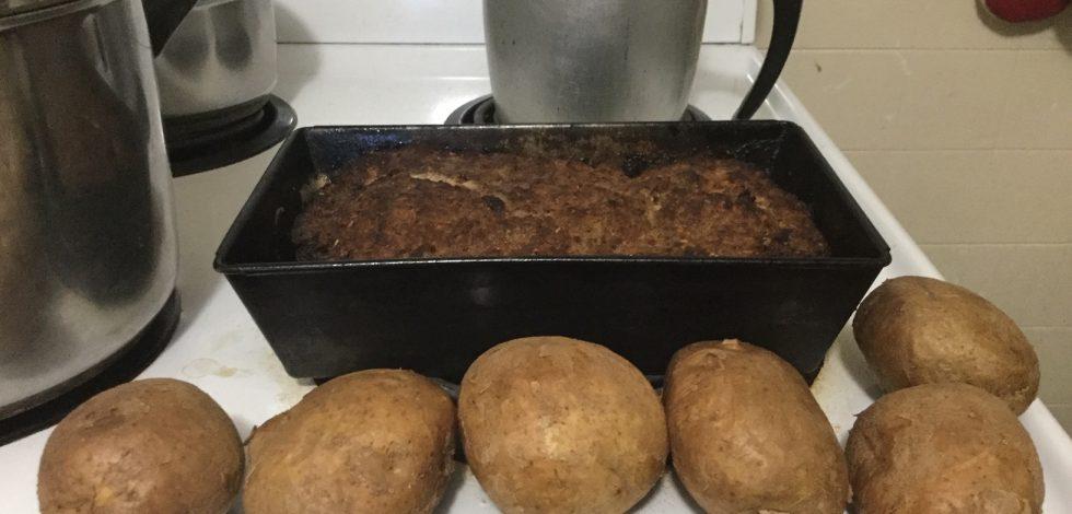 Making Meatloaf & Mashed Potatoes